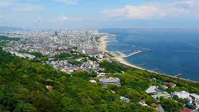 須磨浦山上遊園から見た神戸港の風景