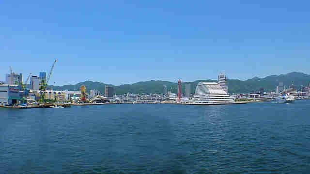 神戸港と六甲山