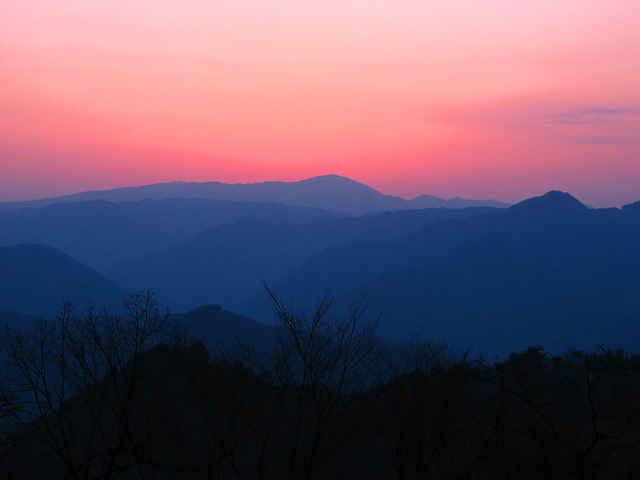 御祓山から見る夕景