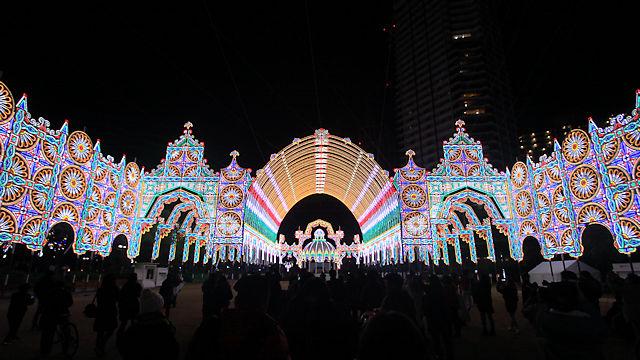 神戸ルミナリエ2017の試験点灯