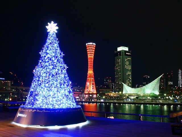 神戸ハーバーランドモザイクのクリスマスツリー