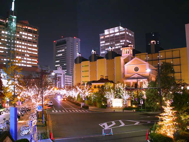 神戸ハーバーランドのクリスマスイルミネーション
