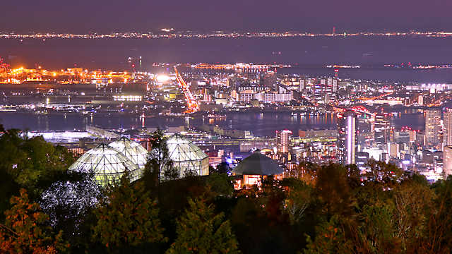 神戸布引ハーブ園「神戸の夜景」