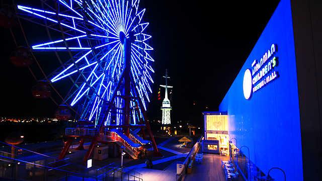 神戸アンパンマンこどもミュージアム&モールとモザイクガーデンの夜景