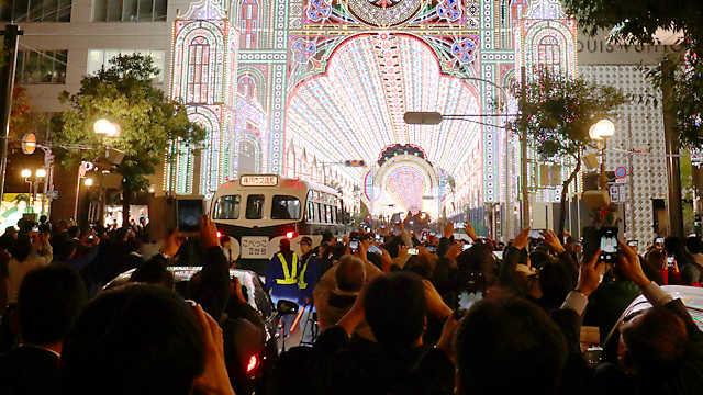 神戸ルミナリエ2018の試験点灯