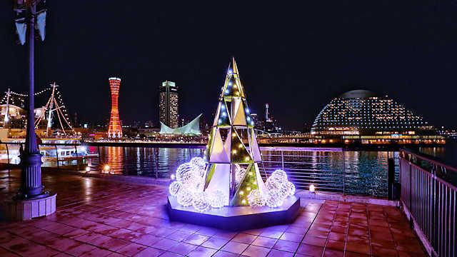 神戸ハーバーランドMosaicのクリスマスツリー