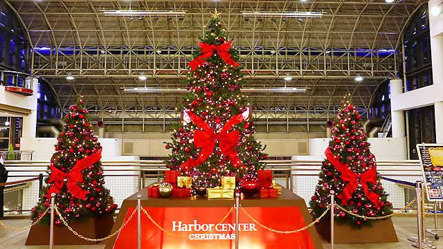 ハーバーセンター スペースシアターのクリスマスツリー