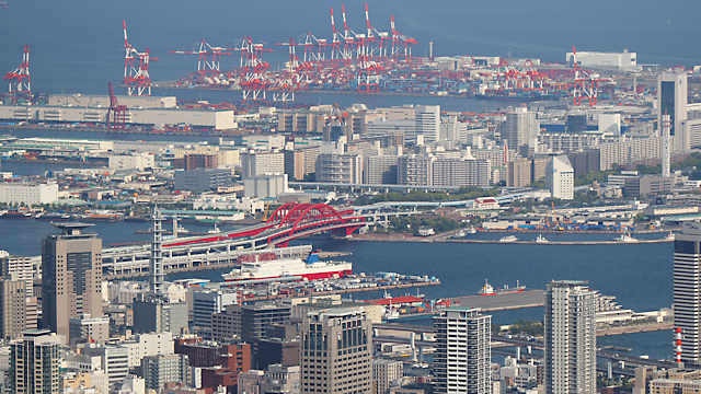 神戸大橋とポートアイランド