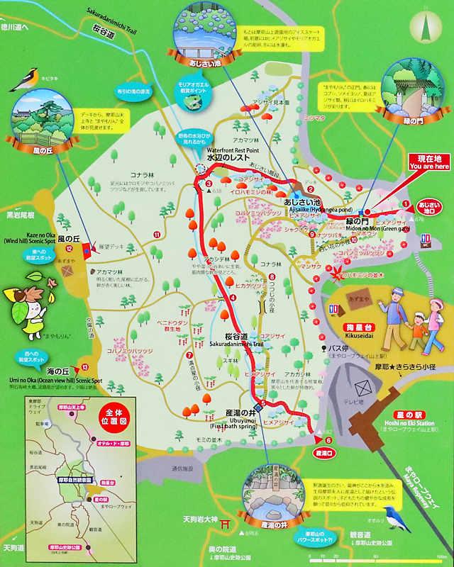 摩耶自然観察園「案内地図」