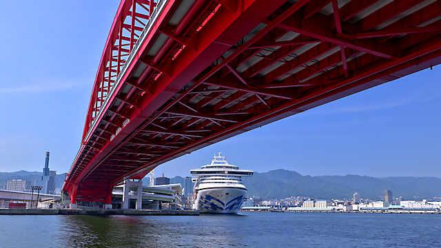 ダイヤモンドプリンセス(DIAMOND PRINCESS)・神戸港