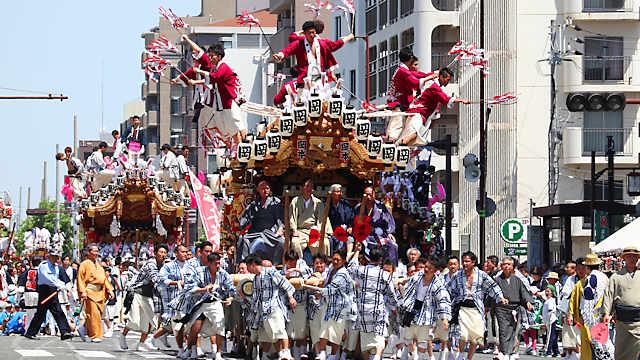 東灘だんじり祭り「本山だんじりパレード」