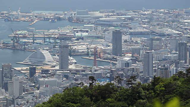 摩耶山天狗道の展望所からの風景