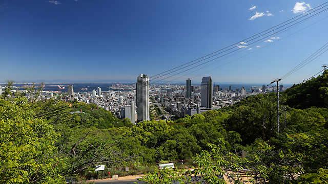 見晴らし展望台からみる神戸の風景