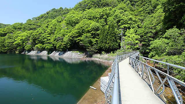 布引貯水池の管理橋