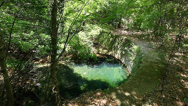 布引貯水池上流の水道施設