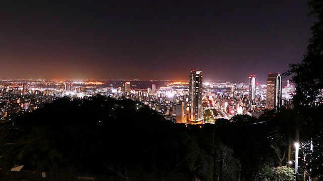 見晴らし展望台からみる神戸の夜景