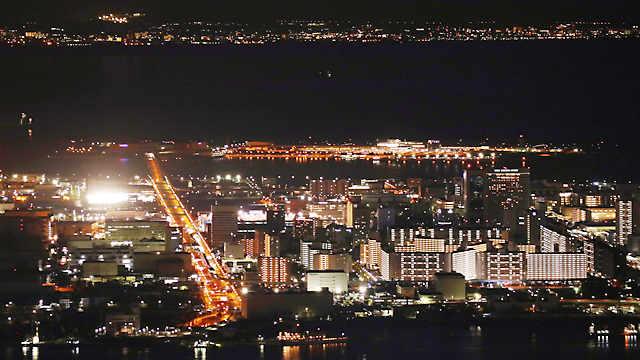 布引ハーブ園と神戸の夜景