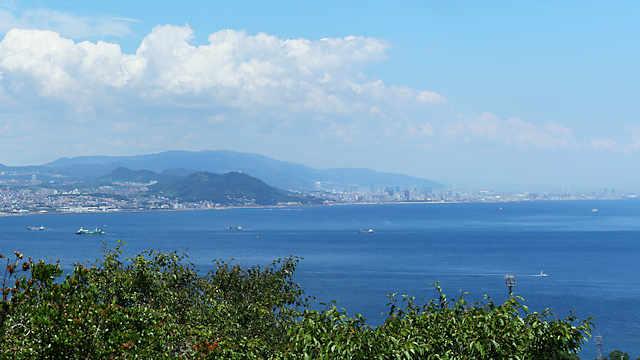 淡路島公園の展望台からの眺め