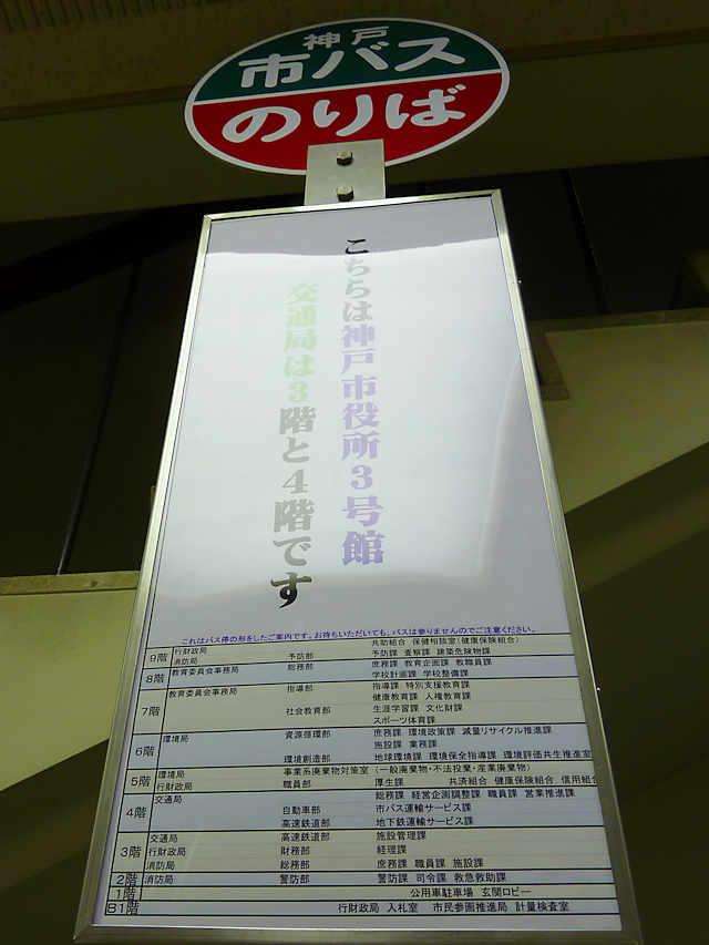 「神戸市役所 3号館」のバス停
