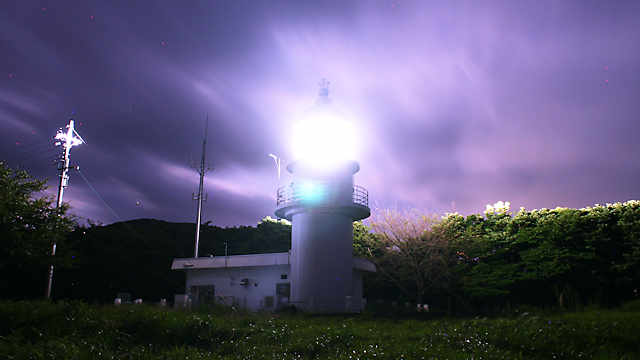 余部埼灯台(御崎灯台)の夜景