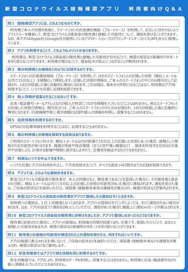 新型コロナウイルス接触確認アプリ【COCOA】