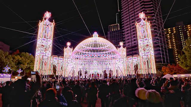 昨年の神戸ルミナリエの写真・画像