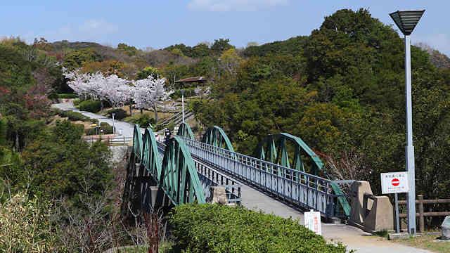 淡路島公園の塩屋橋と桜