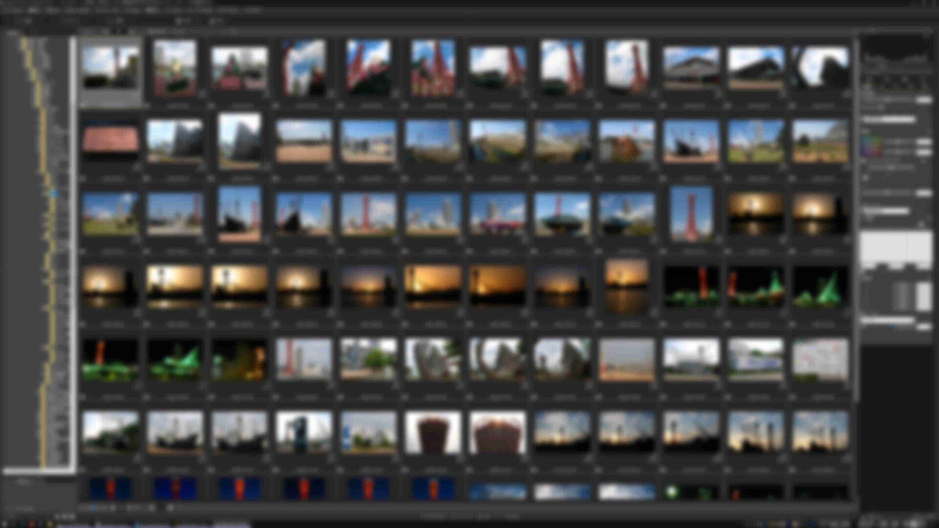画像処理ソフトでの画像ビューアで写真一覧を表示