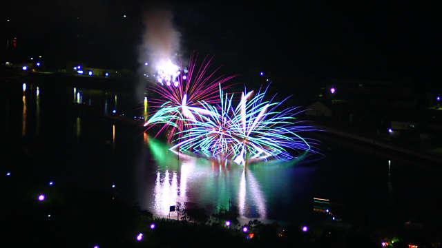 相生ペーロン祭 前夜祭海上花火大会