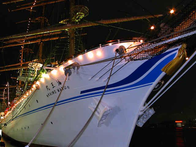 帆船 海王丸のイルミネーション