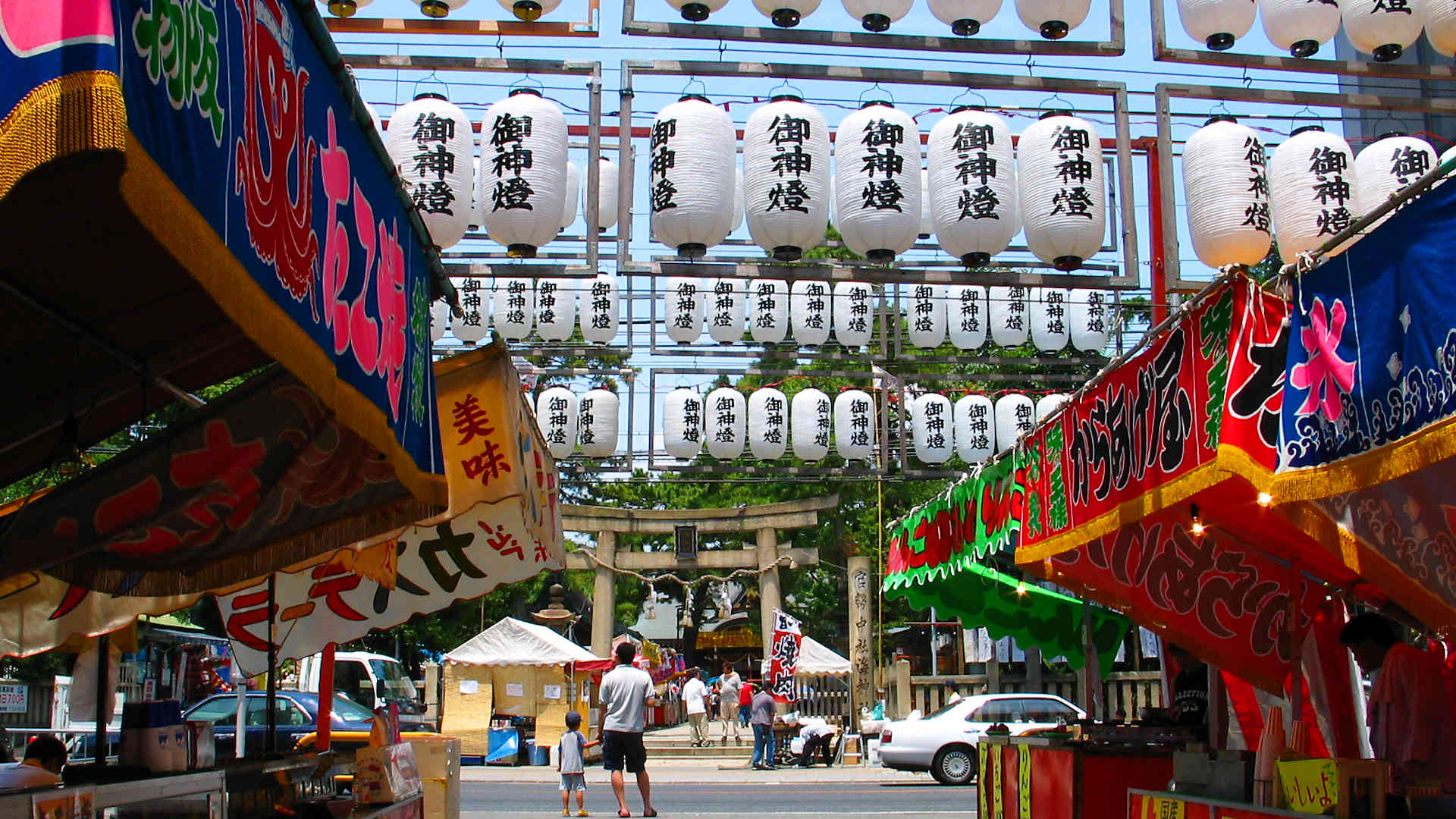 海神社夏祭り2017 茅の輪くぐりと万燈祭