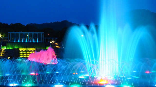 須磨離宮公園ライトアップ