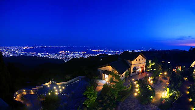 六甲ガーデンテラスと神戸1000万ドルの夜景