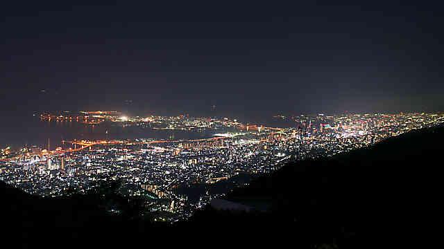 六甲山天覧台から見る神戸1000万ドルの夜景