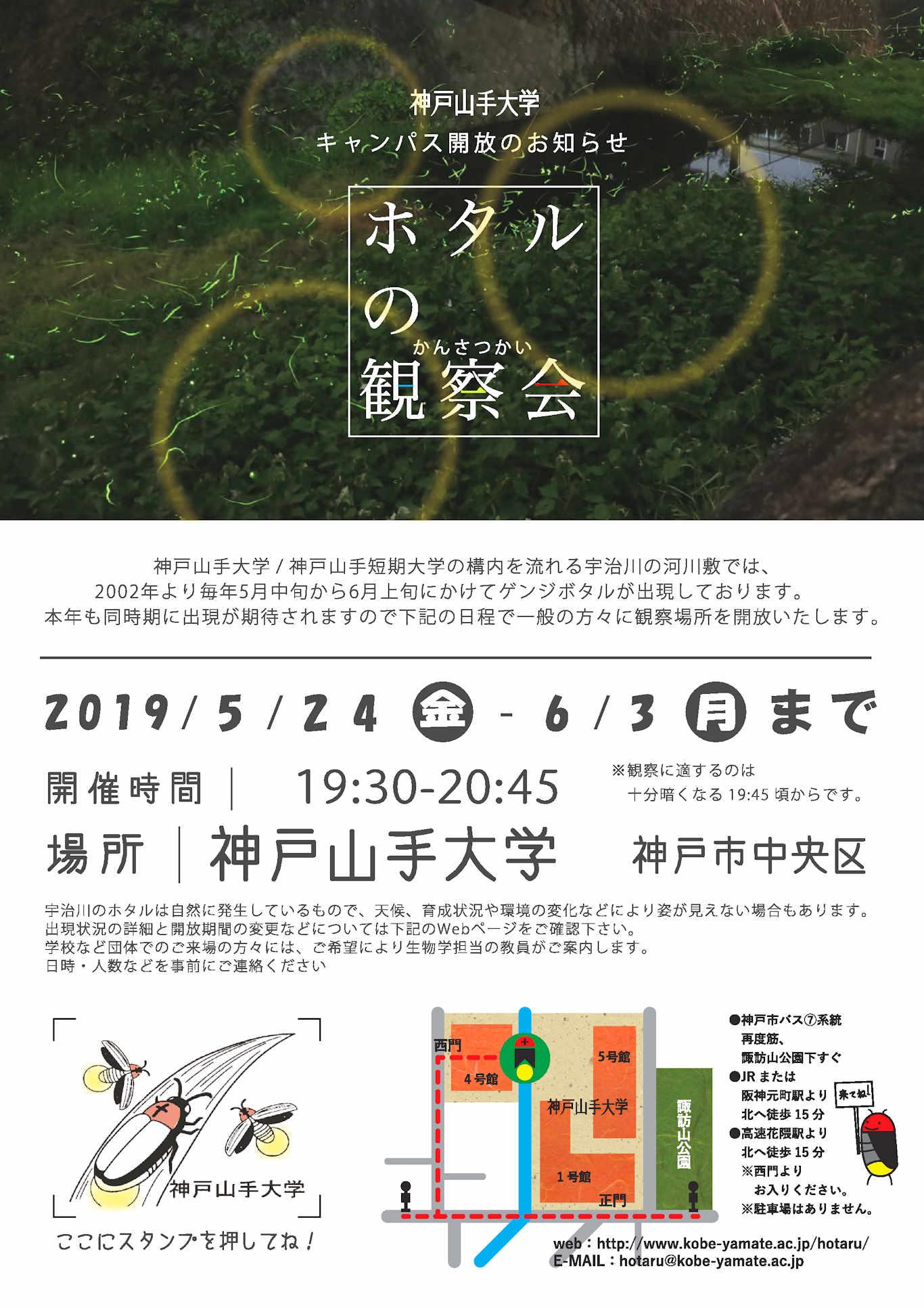 神戸山手大学・短期大学 ホタル観察会2017