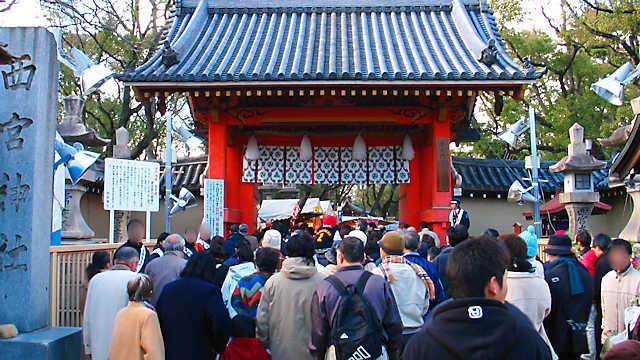 西宮神社入り口の赤門(表大門)