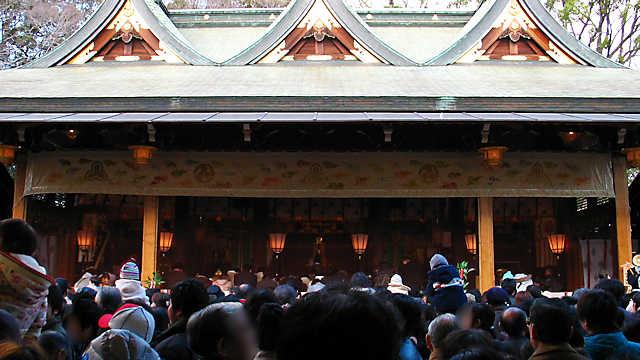 西宮神社本殿 福男選びのゴール地点