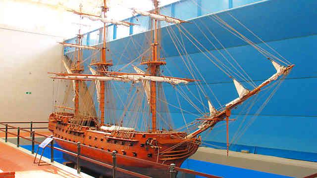 神戸海洋博物館 帆船の模型