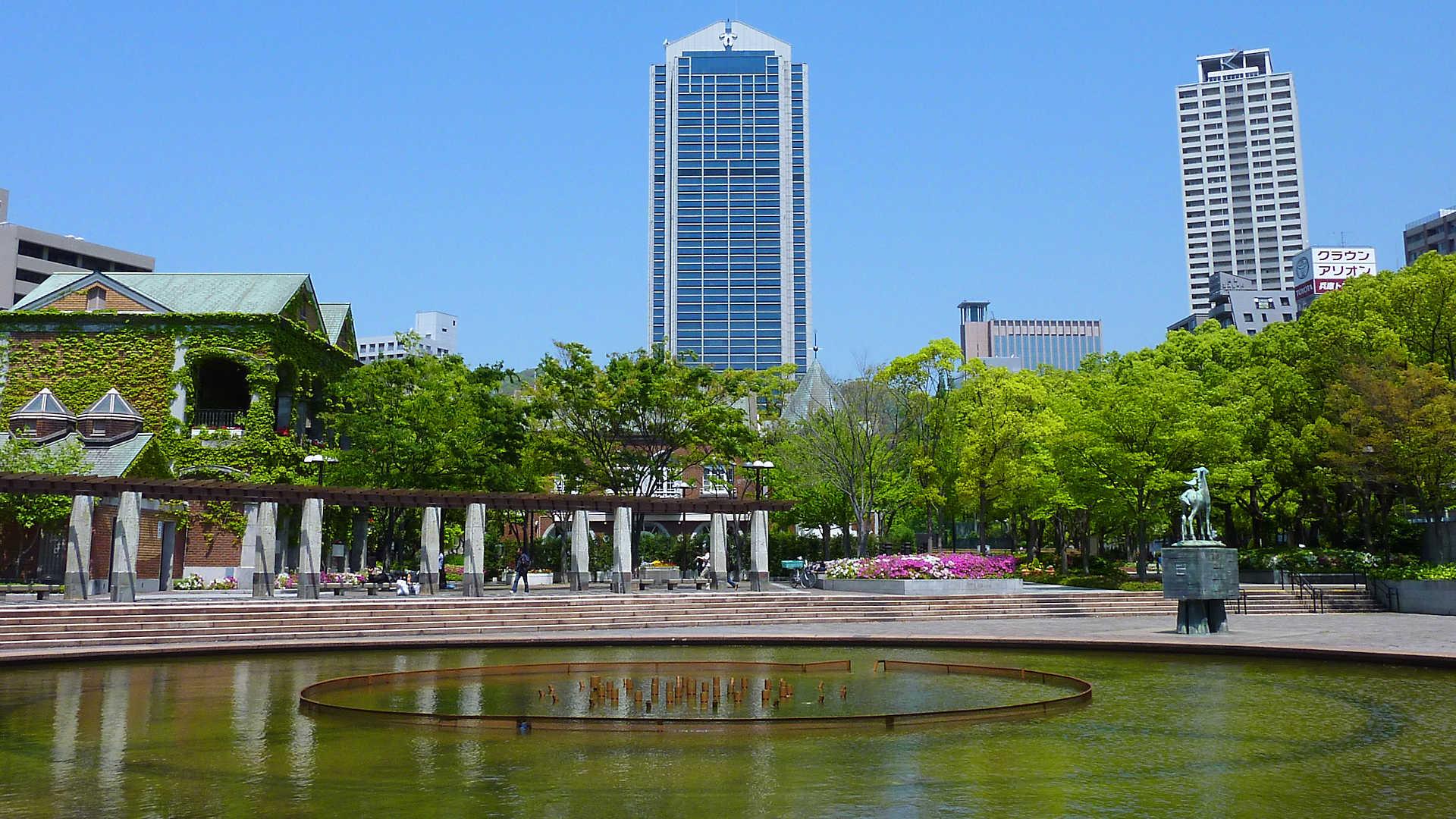 東遊園地 神戸旧居留地の緑地都市公園