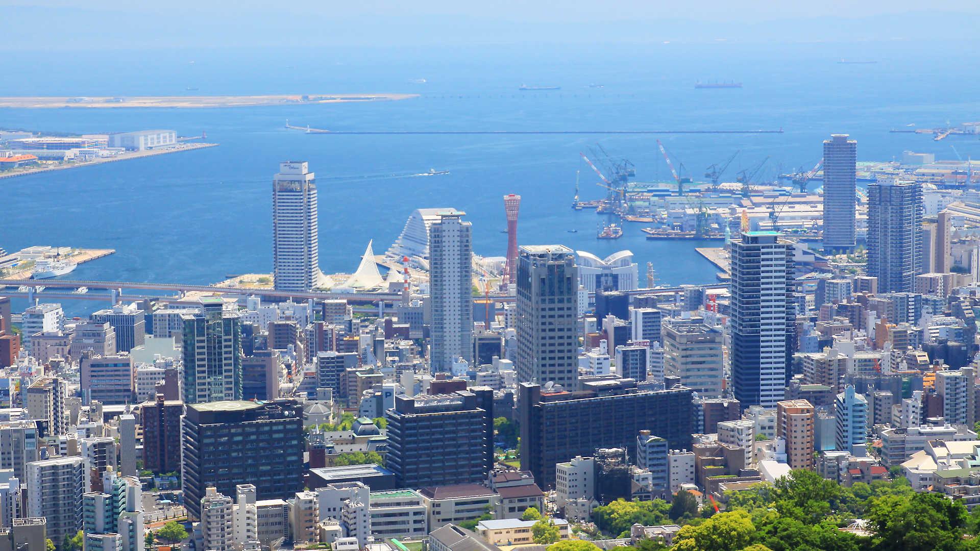 神戸ポートタワーの写真 フルhd壁紙 1920x1080