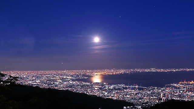 六甲山天覧台の夜景